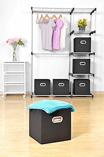 MaidMAX Boîtes de Rangement Ouvertes, Tiroir en Tissu,Cubes de Rangement en Tissu, Pliable ...